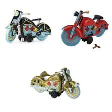 Vintage Wind Up Motorcycle Motorbike Model Clockwork Tin Toy Collectible Gifts
