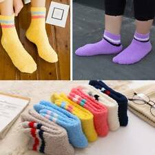 Women Girls Bed Socks Stripe Fluffy Warm Winter Kids Gift Soft Floor Home 2015