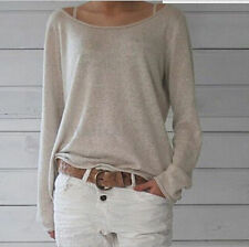 Fashion Womens Long Sleeve Knitted Jumper Loose Sweater Knitwear Pullover Tops