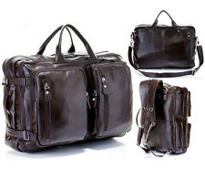 New Genuine Leather Men Travel Bag Large Luggage Bag Duffle Bag Weekend Bag Tote