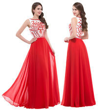 Sexy Chiffon Bead Evening Formal Party Cocktail Prom Gown Bridesmaid Long Dress