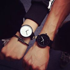 Fashion Contracted Casual Faux Leather Quartz Analog Wrist Women  Watch Watches
