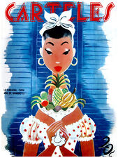 184.Art Decor POSTER.Graphics to decorate home office.Cuban Carteles Cover.Fruit