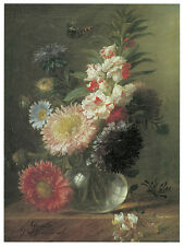 1262.Cornille Floral wall Art Decoration POSTER.Graphics to decorate home office