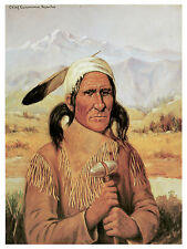 1308 Chief Geronimo wall Art Decoration POSTER.Graphics to decorate home office.