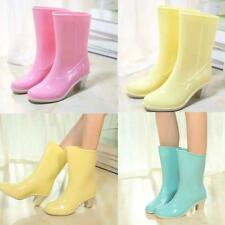 2016 New Womens Rubber Rain Boots Wellies Ladies Waterproof Mid-Calf Snow boots