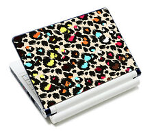 """Colorful Leopard 10.6""""-15.6"""" Notebook Laptop PC Decal Vinyl Skin Sticker Cover"""