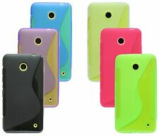 Nokia Lumia 630 Shell Mobile Phone Case Pouch Silicone Protector Gel + Screen