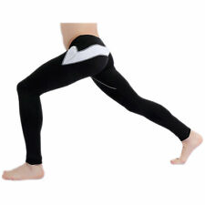 Black Men's Fleece-Lined slim Warm pants Leggings Long johns Thermal Underwear