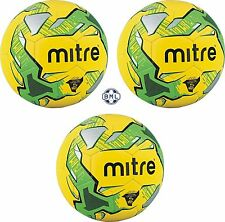3 x MITRE IMPEL TRAINING FOOTBALLS - YELLOW/GREEN - Sizes 3, 4 and 5