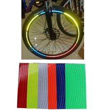"Safer riding Motorcycle Bicycle Reflective Wheel Rim Sticker Tape 10""~28"" bike"