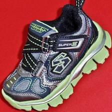 NEW Boys Toddlers SKECHERS EXTREME FLEX 95450 Black/Green Fashion Sneakers Shoes