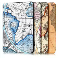 Folio Leather Case Map Stand Cover Shell For Amazon Kindle Fire HD 10 2015 Case