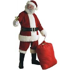 Deluxe Velvet Santa Suit Adult Men Crimson Claus Christmas Costume