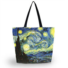 Starry Night Storage Bag Reusable Shopping Shoulder Tote Handbag Grocery Bags