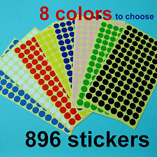896 Inventory Code Retail 10mm Round Color Cording Labels Sticker Dots Adhensive