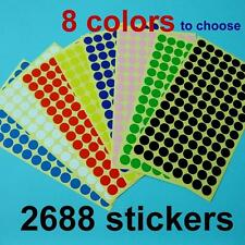 2688 Inventory Code Retail 10mm Round Color Cording Labels Sticker Dot Adhensive