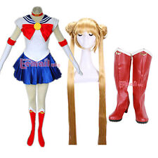 Sailor Moon Cosplay Costume + Shoes/Boots + Cosplay Wig Whole Set customized