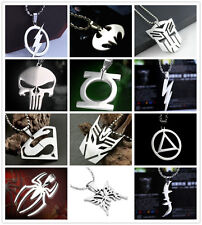 Hot New Marvel Super Hero Chain Steel Pendant Necklace Batman Transformers Gift