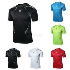 Mens Vogue New Sport Running T-shirt Fitness Muscle Quick Dry Stretch Top Cloth