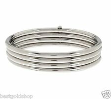 QVC Four in One Round Shiny Bangle Bracelet Stainless Steel by Design