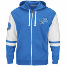 NEW Mens MAJESTIC Detroit Lions 1934 Lions Pride Football Full Zip Up Hoodie NFL