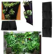 Outdoor Indoor Wall Balcony Herbs Garden Hanging Planter Bag Plant Pots Boxes