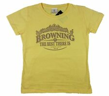 Browning Womens Antique Crest Tee Classic Fit Yellow T-Shirt Size S M L XL 2XL