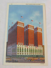 New Palmer House Hotel Building Chicago Old Postcard  T*