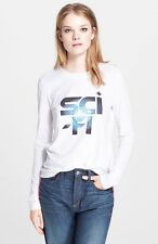 MARC by MARC JACOBS 'Sci Fi' Long Sleeve Slim Fit Cotton Tee Top - White