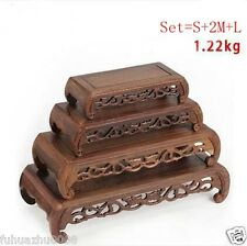 Wooden Crafted Display Rectangle Stand Holder Easel For Statue Teapot Vase Etc..