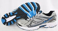 NEW Mens SAUCONY Grid Cohesion 7 25181-15 Silver White Blue Sneaker Shoes NO LID