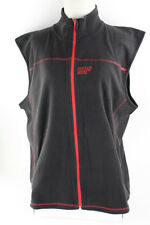 New Unisex Simple Fashion Zip Up Polyester Vest With Embroidered Logo