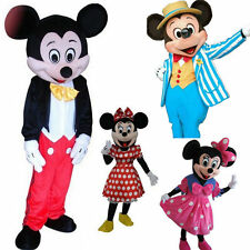 New Mickey and Minnie Mouse Mascot Costume Fancy Dress Adult Suit