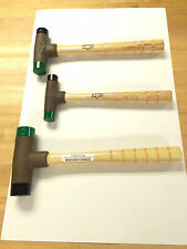 "Lixie Deadblow Hammer Set, 1"", 1 1/4"", and 1 1/2"" New"