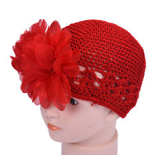 Baby Girl Toddlers Infant Lace Flower Hair Band knitting Headband Headwear Hat