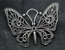 2/8/40pcs Antique Silver Beautiful Butterfly Jewelry Charms Pendant DIY 48x37mm
