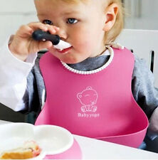 Hot Kids Baby Infants Waterproof Cute Silicone Bibs Lunch Bibs 4 Color Wholesale