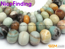 Rondelle Mixed-Color Natural Amazonite Gemstone Beads For Jewelry Making 15''DIY