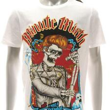 m337w Minute Mirth T-shirt Sz M L XL Tattoo VTG Skull Rock n Roll Star Punk Men