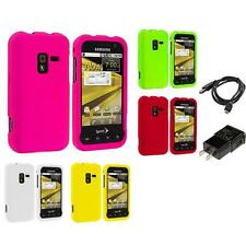 Color Hard Snap-On Rubberized Case Charger for Samsung Conquer 4G D600