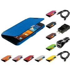 Wallet Leather Case for Samsung Sprint Galaxy S2 S II Epic Touch 4G 2X Chargers