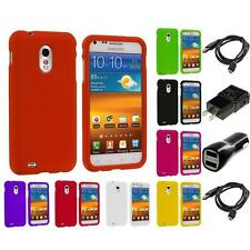 Hard Snap-On Case for Samsung Sprint Galaxy S2 S II Epic Touch 4G 2X Chargers