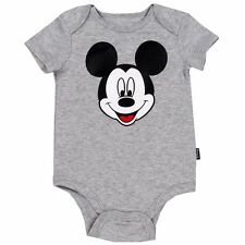 NEW Infant Baby Boys Grey Mickey Mouse Creeper