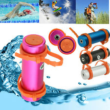 IPx8 Waterproof MP3 Player USB Swimming Surfing Diving FM Radio W Earphone 4GB