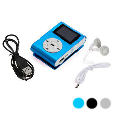 Mini USB Clip Metal MP3 Player LCD Screen Support 32GB Micro SD TF Card