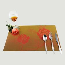 New Hotel Placemats Rose Flower Insulation Place Mats Dining Pad Table Coasters