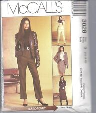 UNCUT McCalls Sewing Pattern Misses Lined Jacket Blouse Skirt SEW NEW 3028 OOP