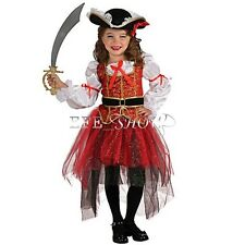 Halloween Christmas Costumes Pirate Princess Cosplay Children Girls Dress Outfit