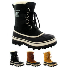 Womens Sorel Caribou Snow Winter Waterproof Fur Lined Rain Mid Calf Boots UK 3-8